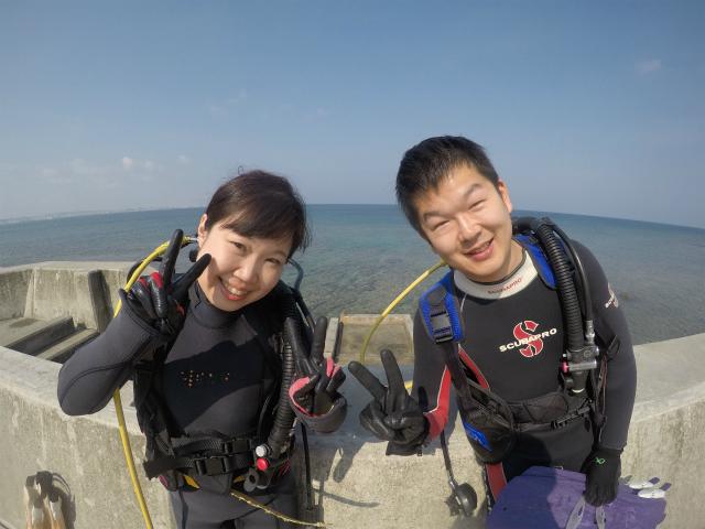 砂辺 北谷 沖縄 ビーチダイビング