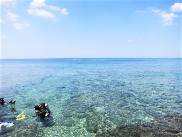 沖縄 北谷 砂辺 宮城海岸 ダイビング ビーチダイビング ファンダイビング