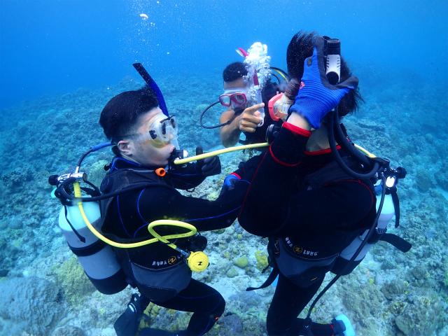 沖縄 慶良間 ダイビング ライセンス講習