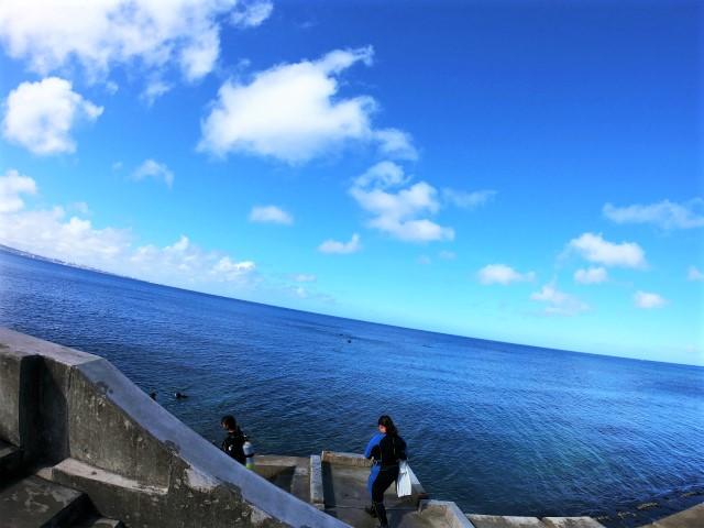 沖縄 北谷 砂辺 ダイビング 講習 PADI OW講習