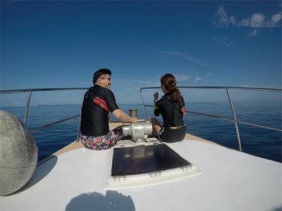 海 ダイビング ボート