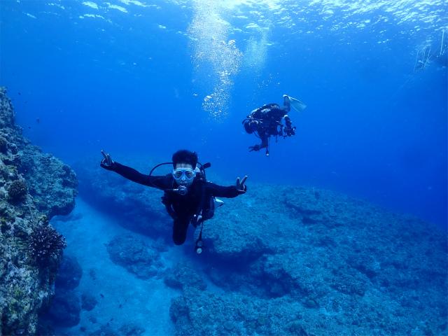 海 景色 慶良間 ダイビング