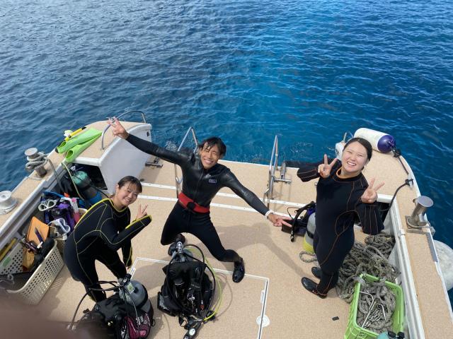 海 ボート ダイビング 慶良間