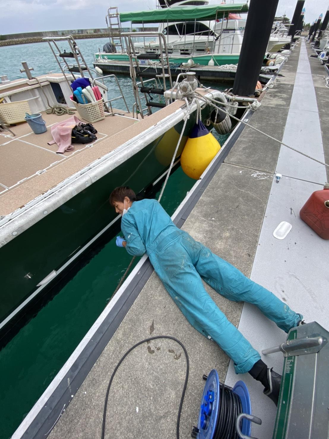 自社船 整備 慶良間 沖縄 観光