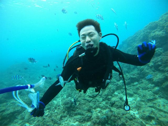 ダイビング 講習 沖縄 観光 海
