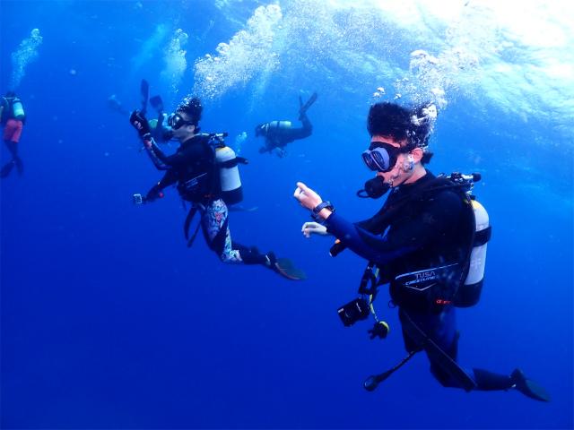 トライアングル 海 ダイビング 上級者 沖縄