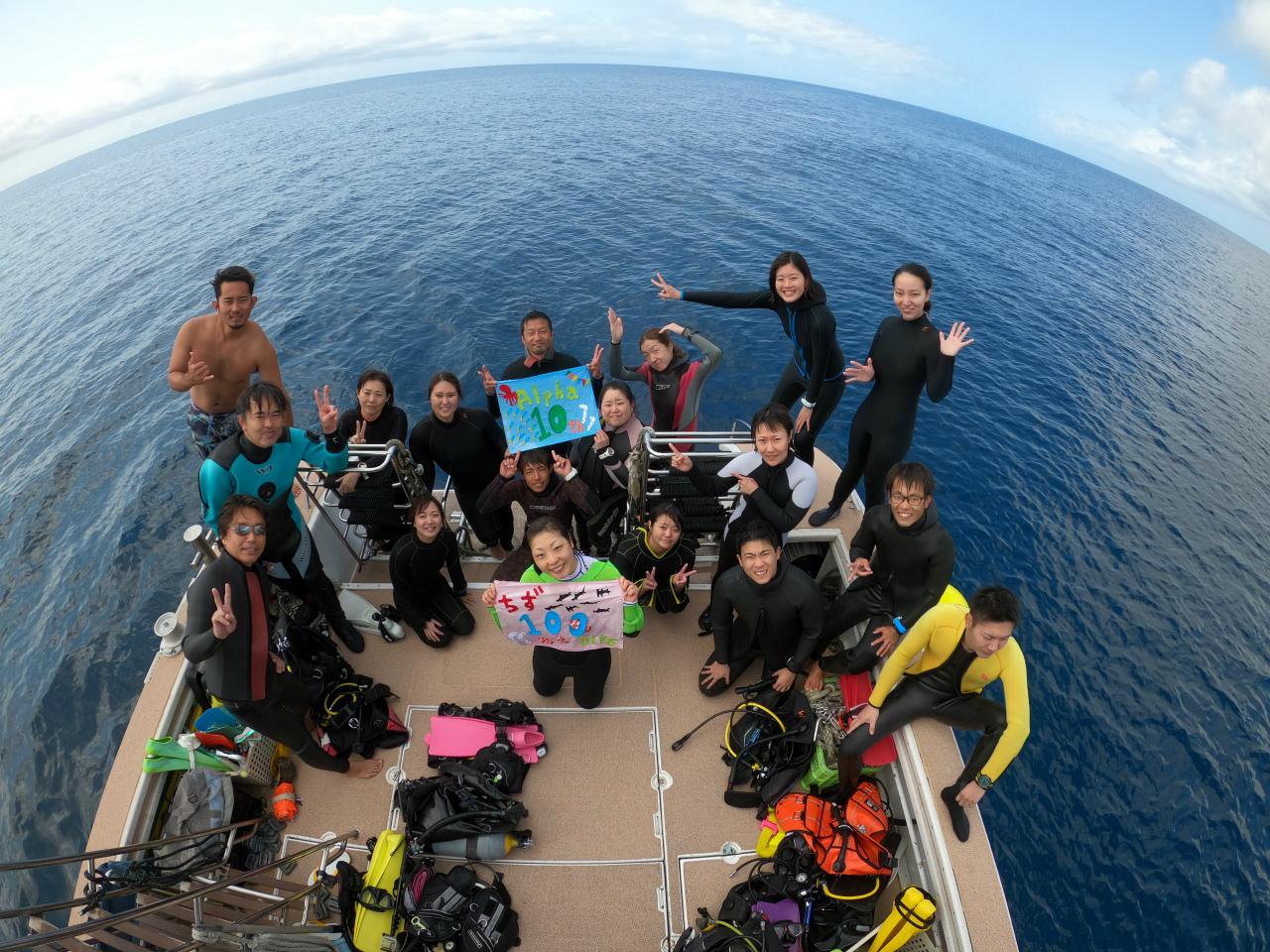 船上 水中写真