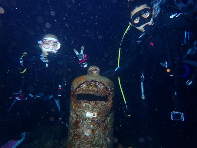 沖縄 ダイビング 北谷 ナイトダイビング サンゴ 観光