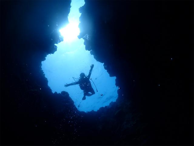 沖縄 万座 ダイビング 本島 地形