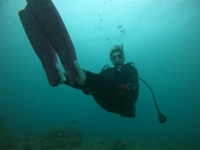沖縄 ダイビング アドバンス講習 観光 海
