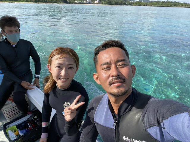 沖縄 ダイビング サメ 万座 観光