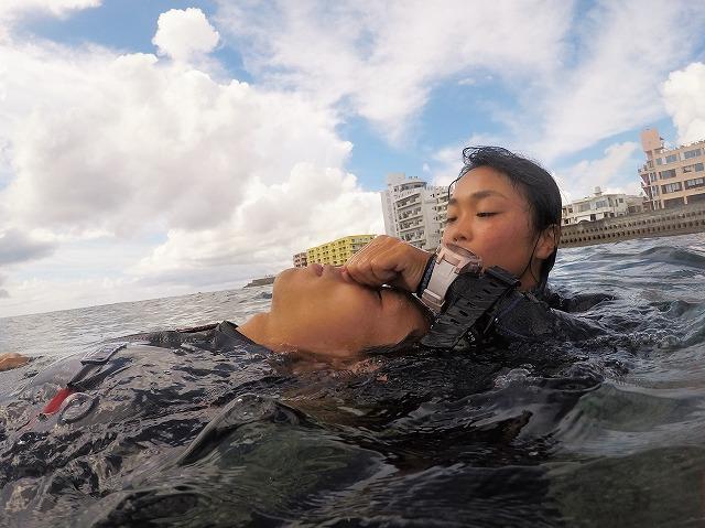 沖縄 ダイビング アルファダイブ コロナ対策 スタッフトレーニング